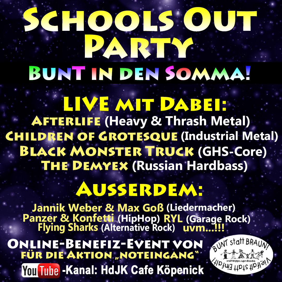 School's Out Party Einladung